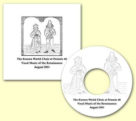 CD cover - SCA Known World Choir at Pennsic 40