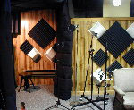image of the vocal booth and tracking station
